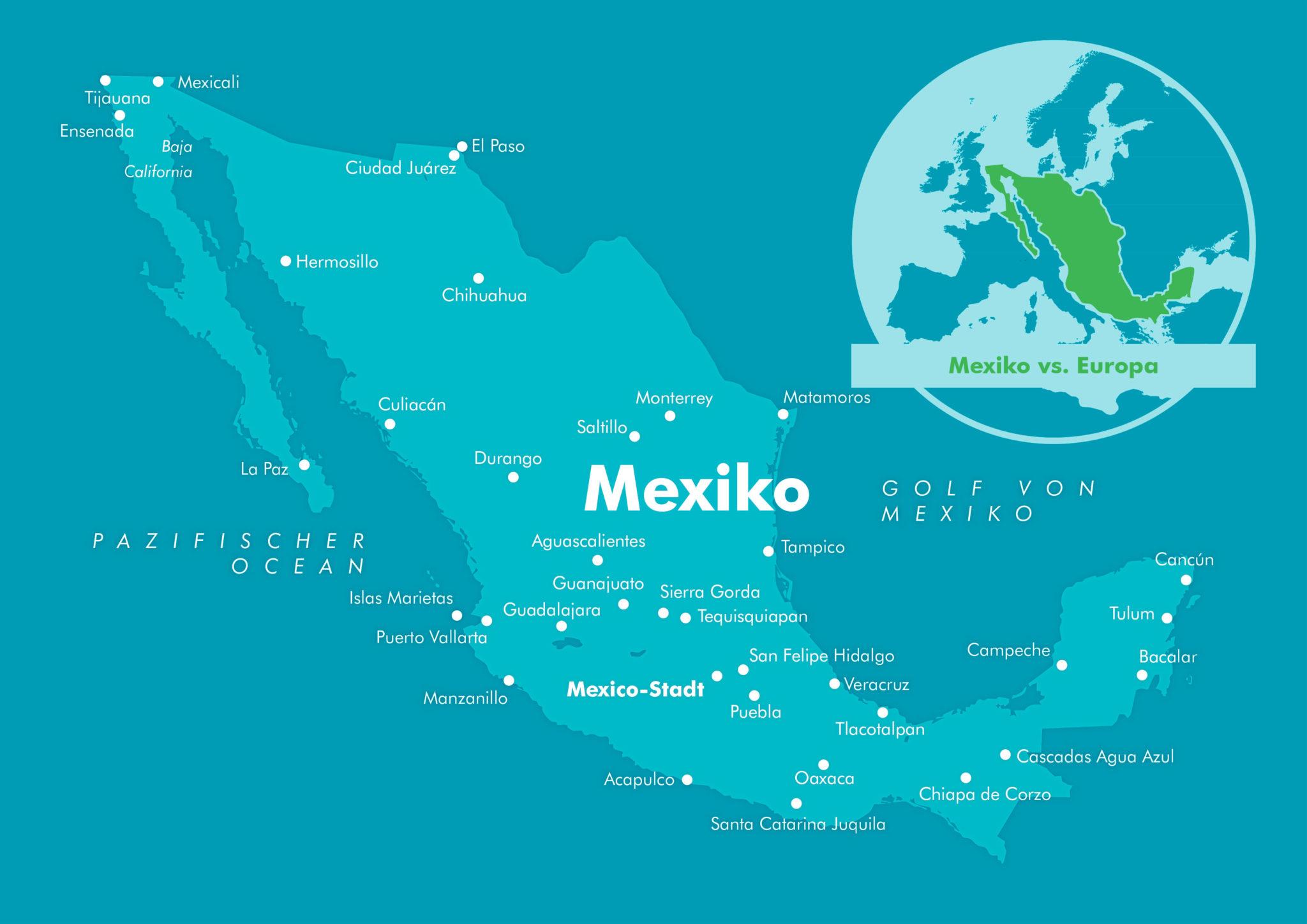 Mexiko Karte Welt.Mexiko Reiseziele Mexiko Reisen Informationsportal